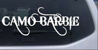 Camo Barbie Country Redneck Girl Car Or Truck Window Laptop Decal Sticker
