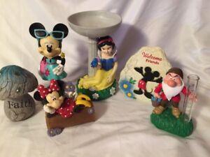 Big Lot DISNEY Outdoor Garden Statue Decor Gnome Birdbath Mickey ...