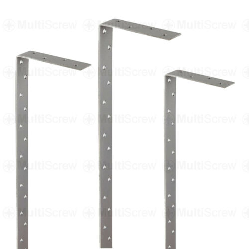 14 x 800mm RESTRAINT WALL PLATE STRAPS HEAVY DUTY BENT 4MM THICK GALVANISED