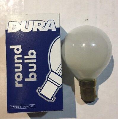 Opal. 5 x Dura 25w 240v B15d SBC Golfball Bulbs