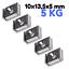 5 x Neodym Magnete mit Loch Bohrung Senkung 10mm 5KG Stark zum schrauben Quader