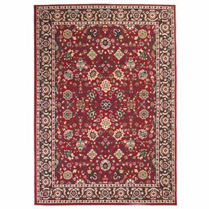 vidaXL-Oriental-Rug-Persian-Design-80x150cm-Red-Beige-Home-Floor-Carpet-Mat