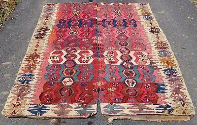 Antique Vintage Turkish Anatolian Malatya Kilim Rug, 2 rugs 10 ft Long Runner