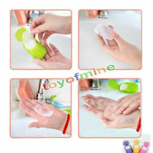 Mini-Travel-Washing-Hand-Bath-Travel-Scented-Slide-Sheets-Foaming-Box-Paper-Soap
