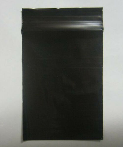 """100 QTY BLACK COLOR  9/"""" x 12/""""  Plastic Ziplock Poly resealable Jewelry BAGS 2MIL"""