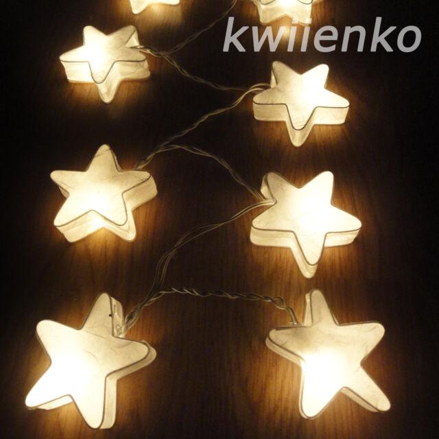 20 White Star Lantern Fairy String Lights Wedding Living Bedroom Home Decor