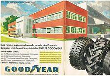 PUBLICITE ADVERTISING    1960   GOODYEAR  PNEUS   AMIENS LE 27 OCTOBRE (2 pages)