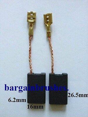 Carbon Brushes to fit Stayer Grinder AGR SAB 24-230 AL 6.2X16X26.5mm D43 *