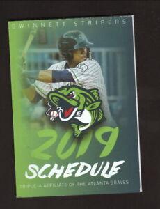 Gwinnett Braves 2019 Schedule Danny Santana  Gwinnett Braves  2019 Pocket Schedule  Georgia