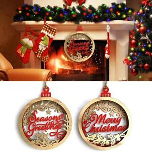 Large Wooden Merry Christmas Letter Pendants Xmas Decoration Hanging Ornament