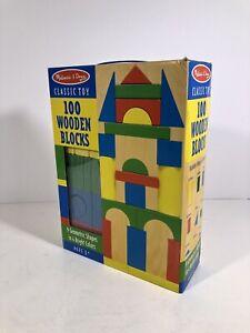 100 Piece Wooden Building Blocks Toy Set Classic Toys Melissa /& Doug Kids Games
