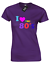 I LOVE THE 80/'S LADIES T SHIRT RETRO CLASSIC OLD SCHOOL FANCY DRESS IDEA WOMENS