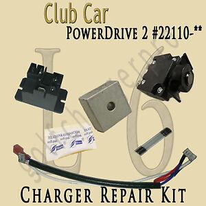 club car golf cart powerdrive 2 charger repair kit model 22110 rh ebay com powerdrive 2 model 22110 owners manual