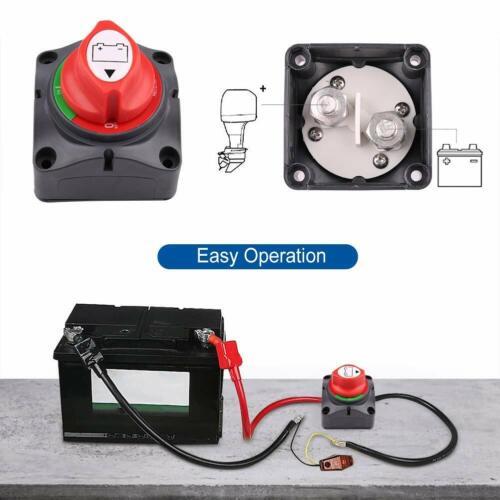 Batterie Trennschalter 12 V-24 V Akku Power Cut Off Schalter Akku trennen Master