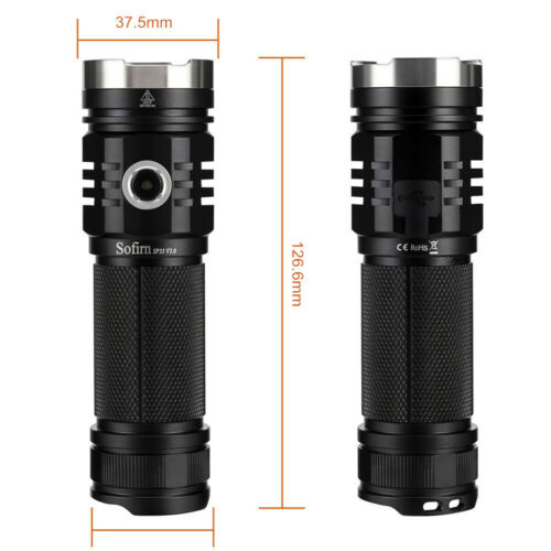 Sofirn SP33V3 Rechargeable Flashlight CREE XHP50.2 LED Cool White 3500 Lumens