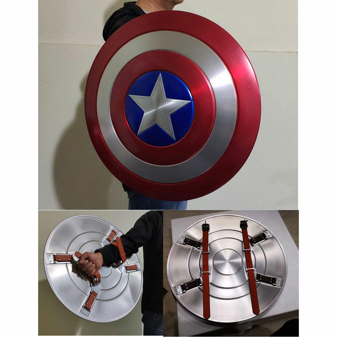 Capitán América 1 1 Escala Modelo Escudo de juguete de aleación de aluminio pintado para Juegos con disfraces