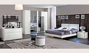 Attraktiv ... Modernes Elegantes Komplett Schlafzimmer Weiss Hochglanz Stilmoebel Aus