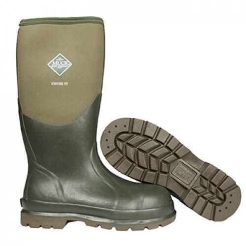 Muck Boots Chore Puntale Stivali d'ACCIAIO Stivali Puntale Wellington 58b327