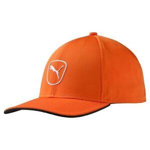 New-Puma-Golf-Cat-Patch-2-0-Adjustable-2016-Cap-Hat-Vibrant-Orange-White