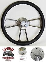 1969-1987 El Camino Monte Carlo Steering Wheel Bowtie 13 3/4 Polished Billet