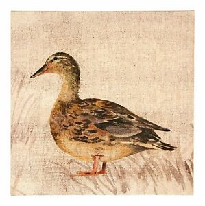 Duck-Animal-Canvas-Wall-Art-Picture-with-Faux-Leather-Hanging-Strap-Home-Decor