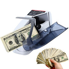 Portable Bill Cash Money Count Machine Banknote Currency Counter Led Display