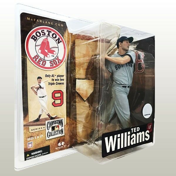 Ted Williams Red Sox McFarlane Figure Cooperstown Cooperstown Cooperstown Collection Series 4 MOC b1631d