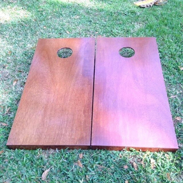 Regulation English Chestnut Stained Boards  W Bags
