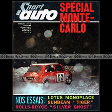 SPORT AUTO N°48-b WILLY MAIRESSE SUNBEAM ALPINE 260 ROLLS ROYCE SILVER GHOST '66
