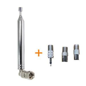 4pcs-Set-75-Ohm-Telescopico-Fm-Radio-Antena-con-F-Male-Conector-amp-3-Adaptador