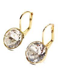 Swarovski Elements Clear Bella Earrings Gold Plated Dangle Earrings Leverback