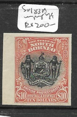 NORTH BORNEO P2603B $10.00 ARMS, LION SG 183A IMPERF SINGLE NGAI
