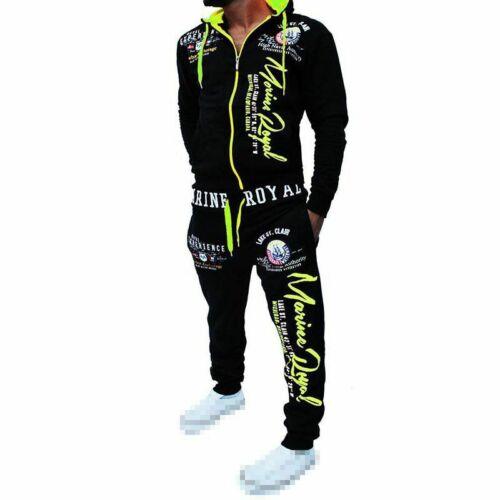 Men/'s Tracksuit Set Hoodie Sweatsuit Slim Fit Top Pants Joggers Gym Casual Suit