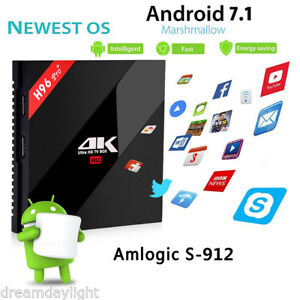 Details about Alfawise H96 PRO Plus TV BOX Android 7 1 Set Top Box  2/3GB+16/32/64GB Octa Core