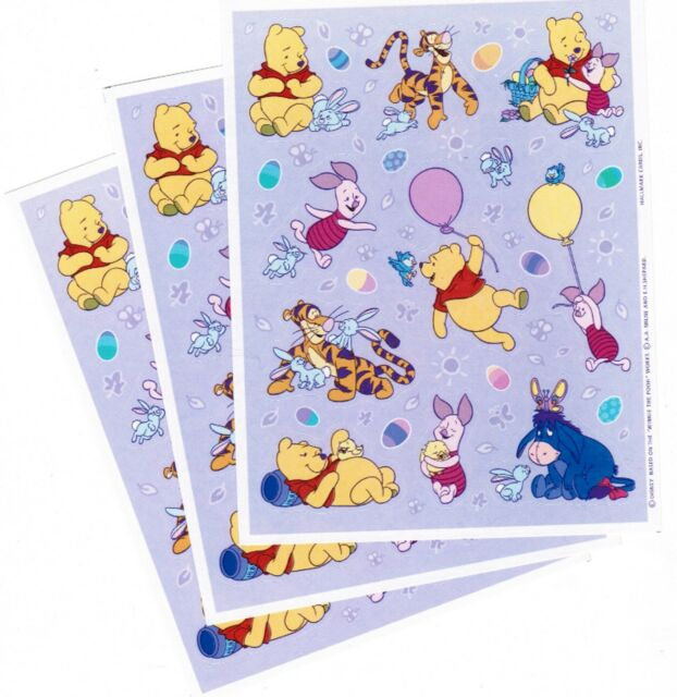 Disney Winnie the Pooh Border Sticker /& Pooh Puffy Sticker Scrapbooking Set