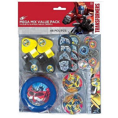 48 Piece Transformers Optimus Prime Birthday Party Favor Mega Mix Value Pack