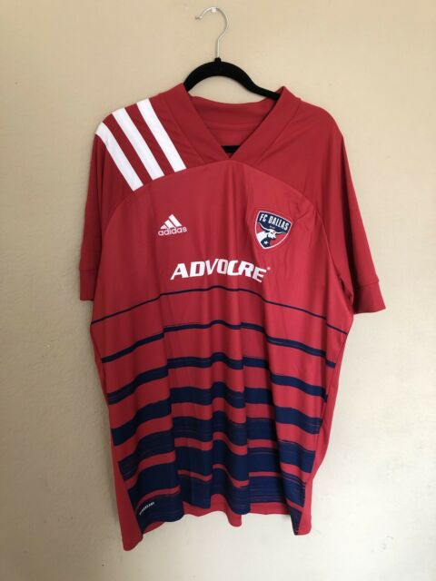 adidas Men FC Dallas MLS Home Jersey 2020 Eh8697 Red Blue Size 2xl ...