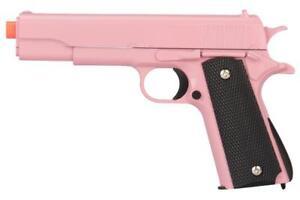 M1911-Replica-Full-Metal-Two-Tone-Pink-Airsoft-Spring-Pistol-6MM-BB-Gun