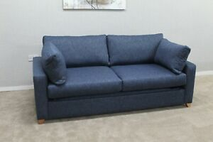 Willow-amp-Hall-Somerton-Designer-Navy-Blue-Fabric-3-5-Seater-Sofa-Bed