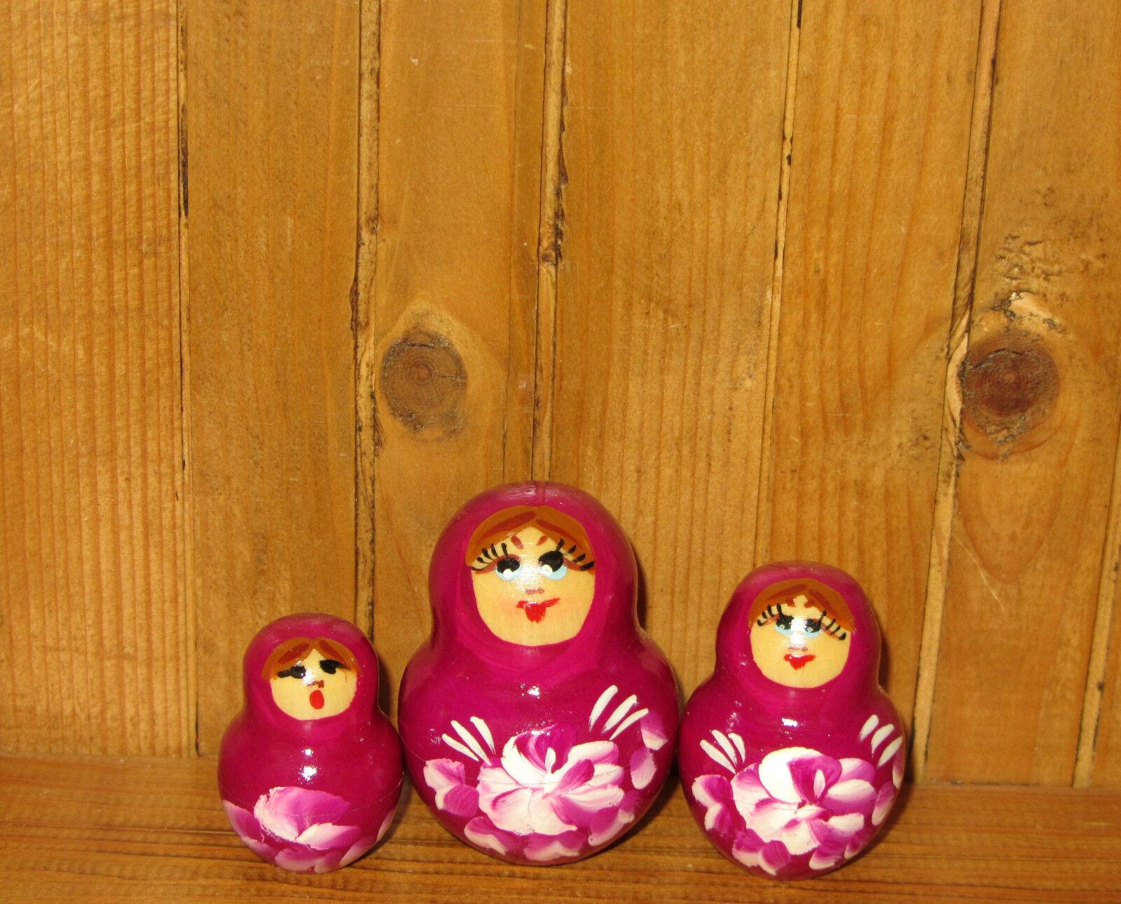 Verschachtelte Russische Puppe Matryoshka Matryoshka Matryoshka Babuschka 10 Lila Vögel Nikitina Kunst c0bc0d