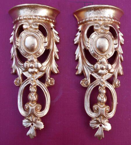 #10 Mounts//decoration. for fancy furniture 2 Metal ormolu corners pediments