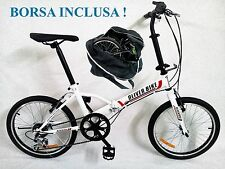"""BICICLETTA PIEGHEVOLE ruota 20"""" folding bike 6 RAPPORTI con borsa da trasporto!!"""