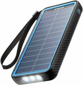 Anker Solar Power Bank PowerCore 10000 Dual Port Charger Outdoor iPhone Android