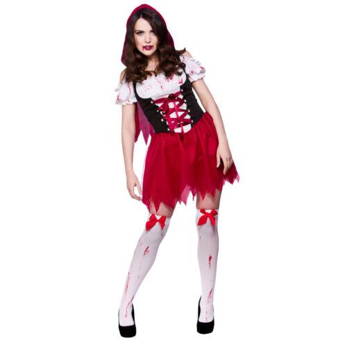 Little Dead Riding Hood Fairytale Halloween Adults Womens Fancy Dress Costume