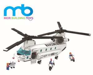 NEW  830pcs Chinook Helicopter Building Blocks thunder air force DIY  Bricks Toy