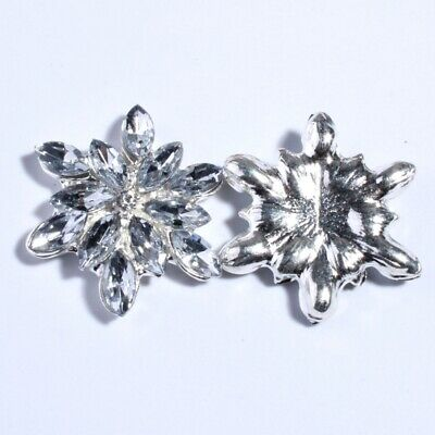 20PCS 23MM New Silver Crystal Buttons For Clothing Decoration Rhinestone Metal