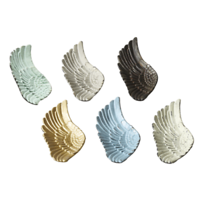 Angel Wing Trinket Dish Cast Iron Farmhouse Style A Distressed Primitive Finish