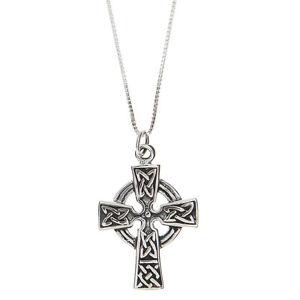 Sterling-Silver-Celtic-Cross-Pendant-Necklace