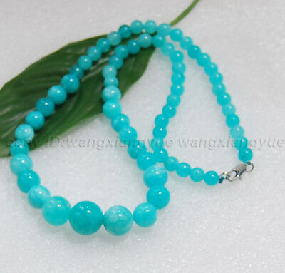 "New Brazil Natural 6-14mm Garnet Round jade Beads Necklace 18/"" AAA"