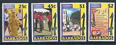 Caribbean Barbados 2001 35th Anniv.of Independance Sg1198/01 Mnh And To Have A Long Life.